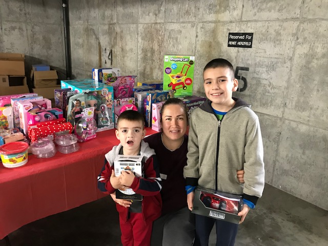 Family At Toy Giveaway